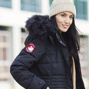 CANADA WEATHER GEAR Faux Fur-Collar Puffer Jacket